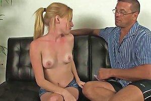 Cocksucking Petite Teen Riding Her Stepdad