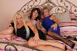 Two Blonde Lesbian Ladies Sharing A Petite Mature