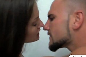 Slender Brunette Babe Convinced To Suck And Fuck For Cash